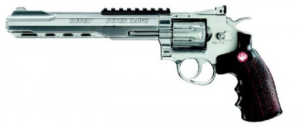 Ruger SuperHawk silber Soft Air 8""