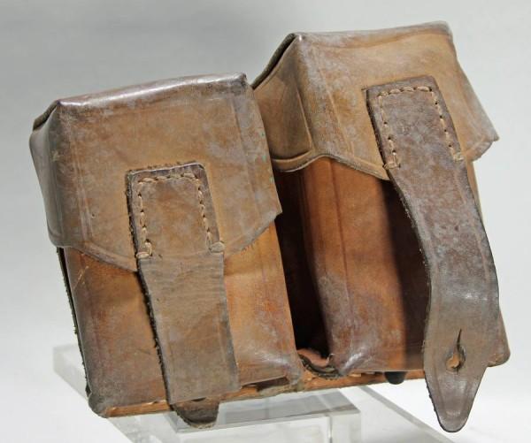 Serbische K98 Patronentasche Leder zweiteilig