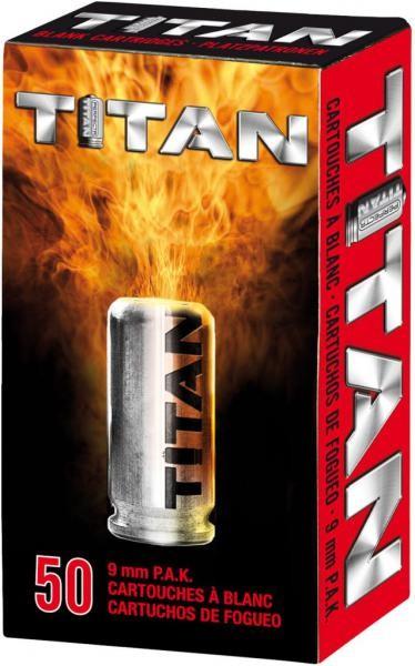 Titan 9mm PAK Platzpatronen - Knallpatronen 50 Schuss