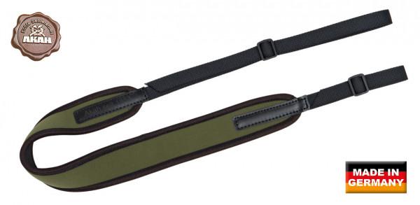 AKAH Gewehrriemen Universal NEOPREN mit Gurtband grün 55 mm