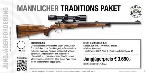 STEYR MANNLICHER CL.II Jägerset inkl Leica Visus 3-12x50 LA -4A