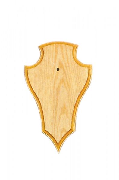 Gehörnbretter für Rehwild, 22x13 cm hell spitz