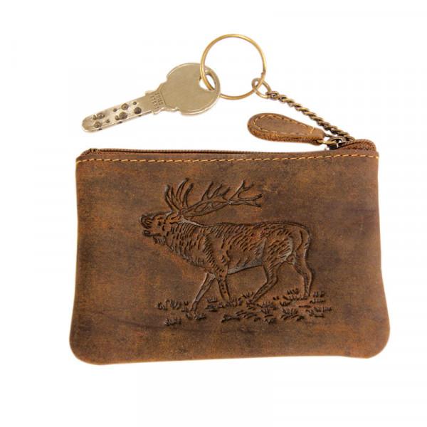 Schlüsseletui mit Hirschprägung