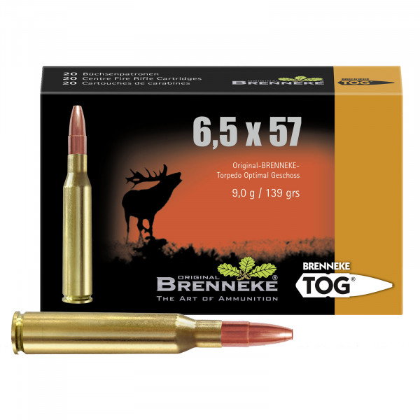 BRENNEKE 6,5x57 TOG Munition