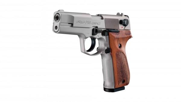 Walther P88 Schreckschuss Pistole nickel Holzgriff