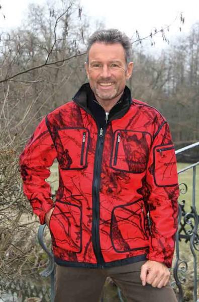 SHOOTERKING Mossy Red Softshell Jagd Wendejacke für Herren GR.S