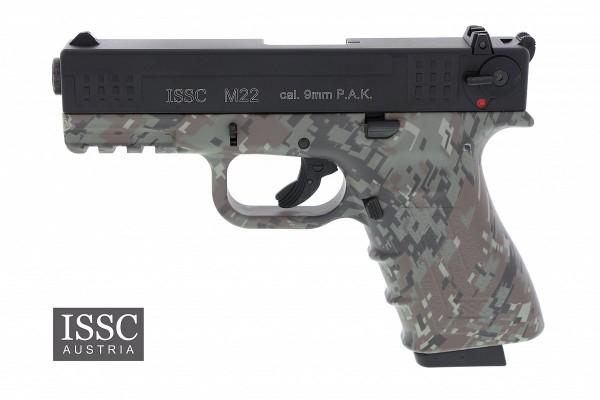 Schreckschusspistole ISSC M22 9mm P.A.K. digital camo