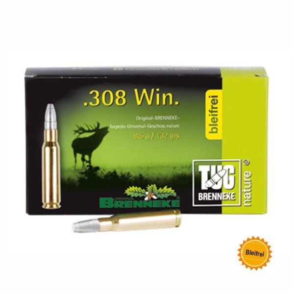 BRENNEKE .308 TUG nature. 9,5 gr Munition