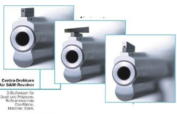 Centra 2-Stufen Drehkorn für S&W M686, Breite: 3,5mm
