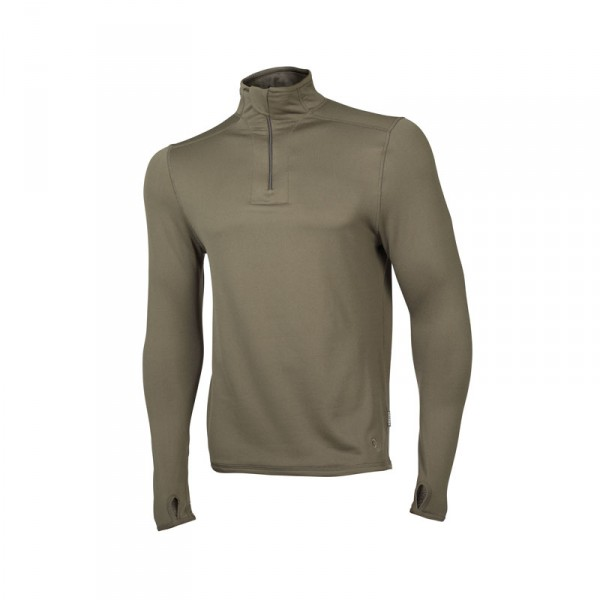 "Ceceba Langarm-Unterhemd oliv mit Zipper ""Thermal Control"" XXL"