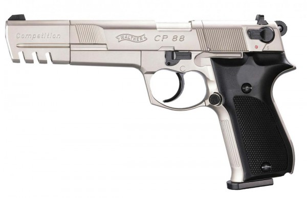 Walther CP 88 Luftpistole Competition Nickel Sparset