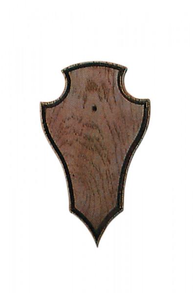 Gehörnbretter für Rehwild, 19X12cm dunkel mit Ausfräsung