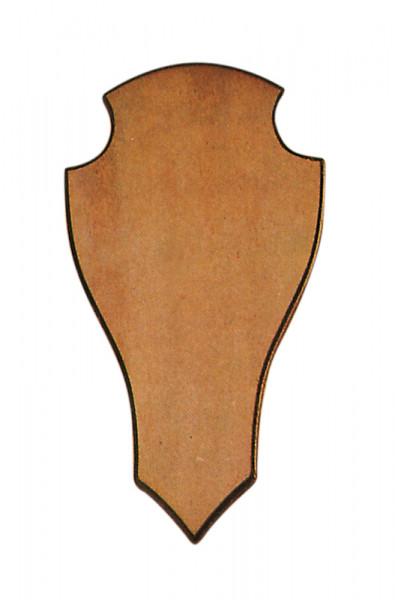 Geweihbrett für Rot- u. Damhirsch Eiche, ohne Ausfräsung, spitze Form 40x22 cm
