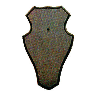 Gehörnbretter für Rehwild, 19X12cm dunkel