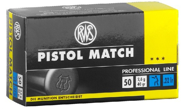 RWS Pistol Match KK Patrone 22 L.R. 5000 schuss.