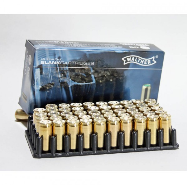 Walther 9 mm PAK Platzpatronen - Knallpatronen