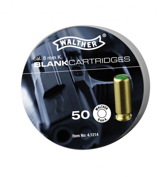 Walther 8mm knall Platzpatronen 50 Stck