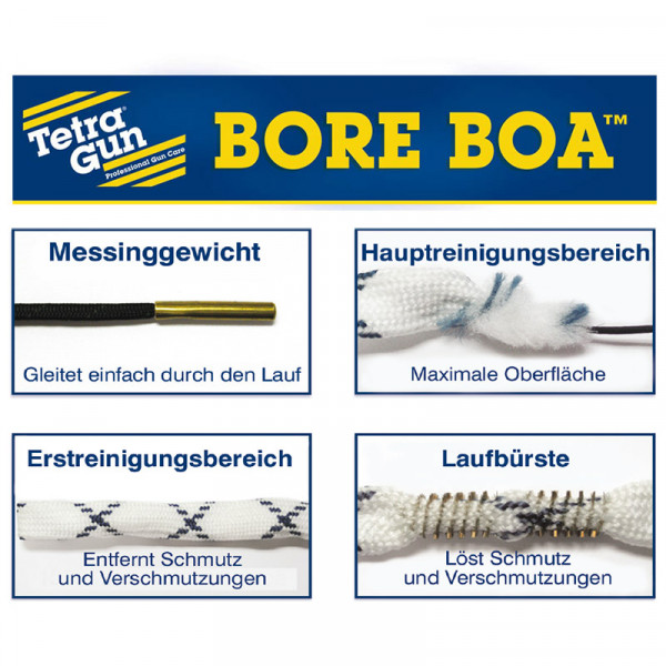 TETRA GUN Bore Boa™ Lauf-Reinigungsschnur für Kurzwaffen Kal. .30/.32