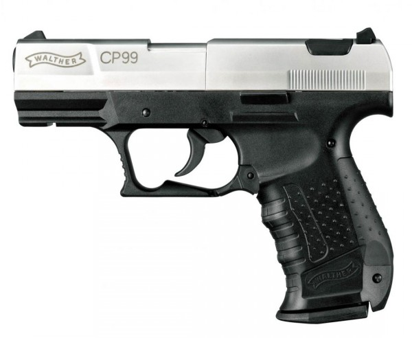 Walther CP99 Luftpistole Co2 nickel Set