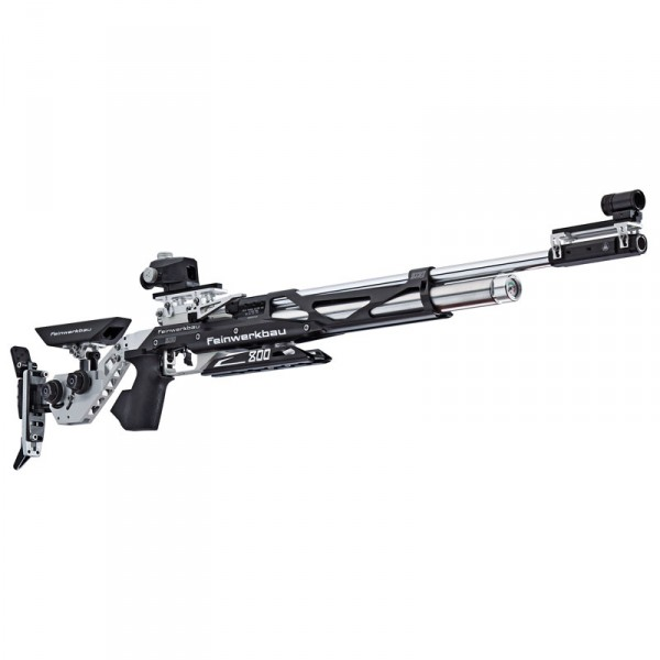 Feinwerkbau Luftgewehr Mod. 800 X Aluschaft links schwarz- silber Griff Gr. M