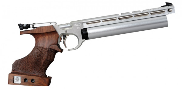 Steyr Luftpistole EVO 10 Silber rechts silber Kartusche