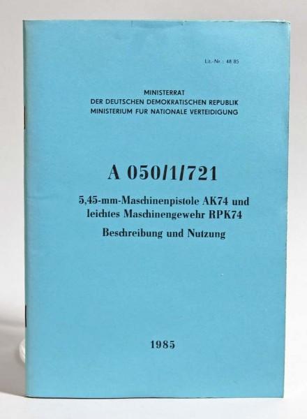 Handbuch NVA Kalashnikov 74