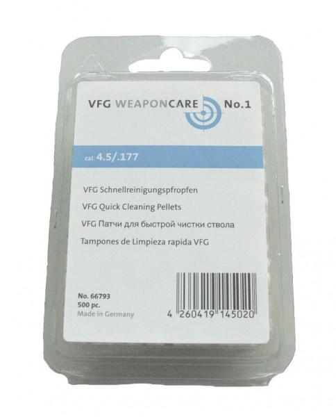 VFG-Schnellreinigungspfropfen, 500 St. Luftdruckwaffen Kal. 4,5 mm / 5,5 mm
