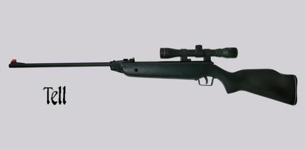 TELL Luftgewehr 220 Black mit Zielfernrohr