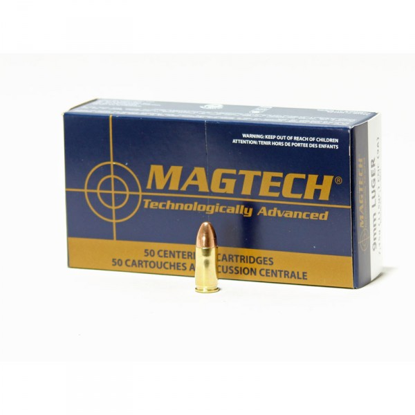 Mag Tech 9 mm Luger FMJ 115 grs 50 Schuss