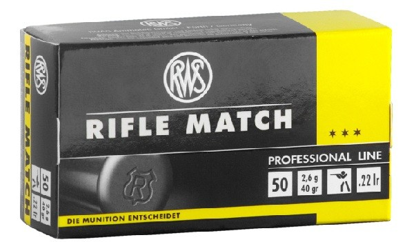 RWS Rifle Match KK Patrone 22 L.R. 5000 schuss