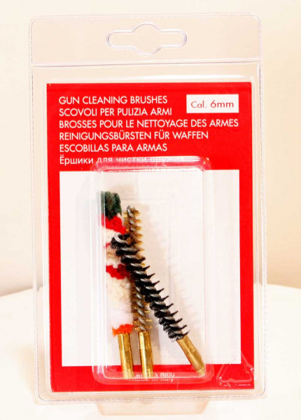 Putzbürsten- Set für Kugelläufe 6mm