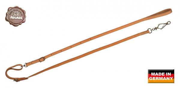 AKAH Umhängeleine aus Fahlleder 10 mm breit