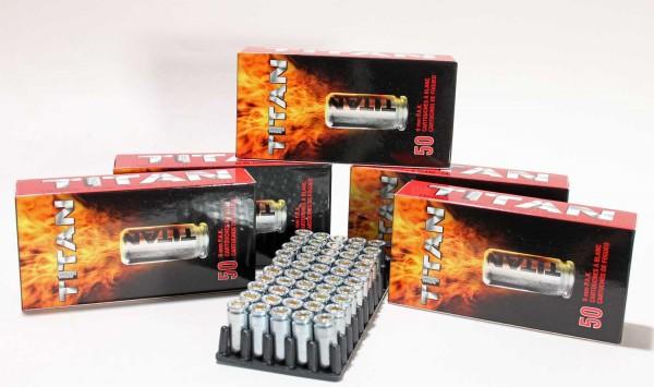Titan 9mm PAK Platzpatronen - Knallpatronen 5 Pack 50 Schuss