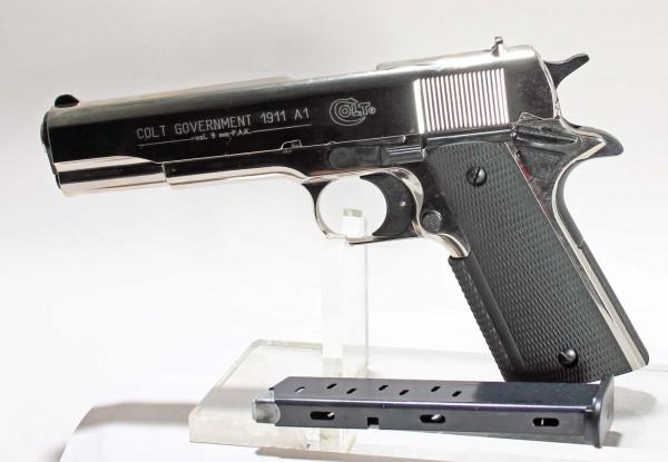 Colt Government 1911 Schreckschuss Pistole Polished Chrome