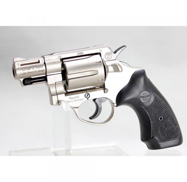 Revolver RECORD CHIEF 2 Zoll vernickelt 9 mm