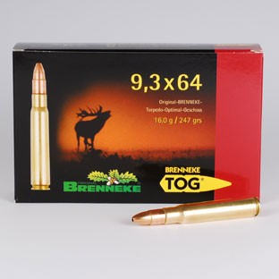 BRENNEKE. 9,3X64 TOG 16g Munition