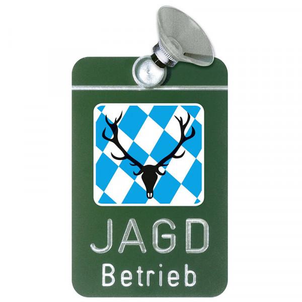 "Autoschild ""Jagdbetrieb"" Wappen: Bayern"