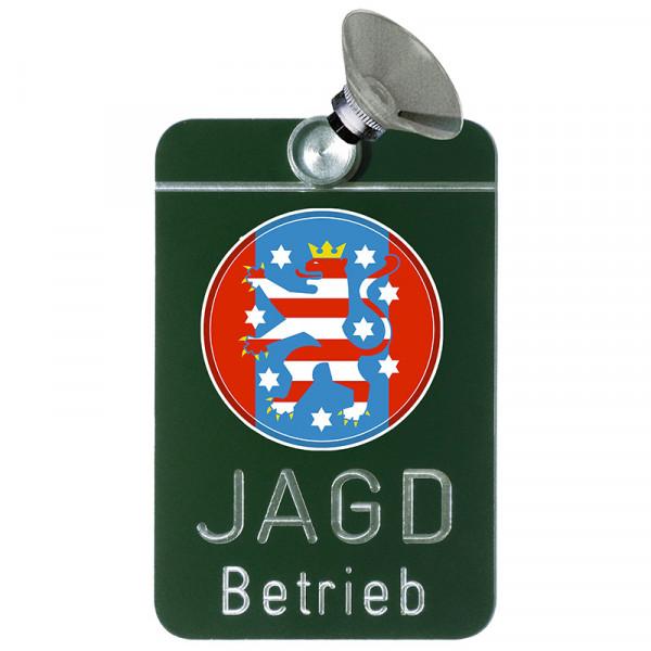 "Autoschild ""Jagdbetrieb"" Wappen: Thüringen"