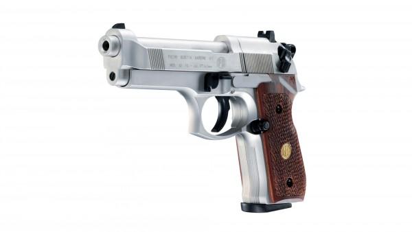 Beretta M 92 FS Luftdruckpistole vernickelt Holzgriffschalen