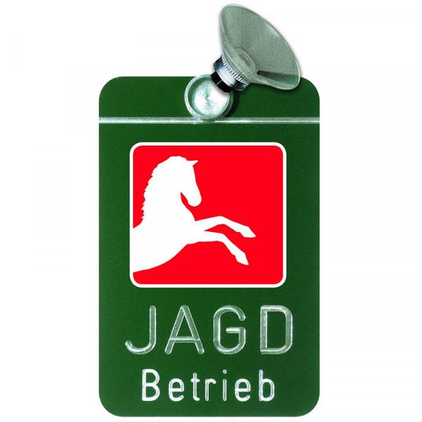 """Autoschild """"Jagdbetrieb"""" Wappen: Niedersachsen"""