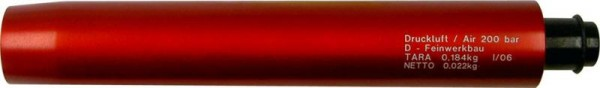 Feinwerkbau Pressluftbehälter, lang, rot Pressluftpistole
