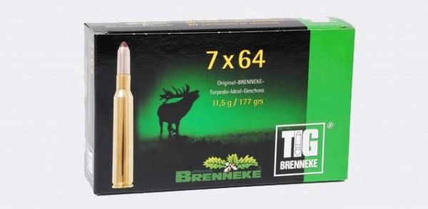 BRENNEKE. 7x64 TIG 11,5g Munition