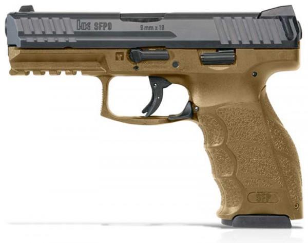 H-K Pistole Modell SFP9 sandfarben