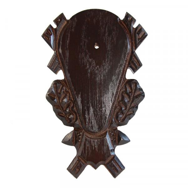 Gehörnbrett für Rehwild, 23x14 cm dunkel geschnitzt