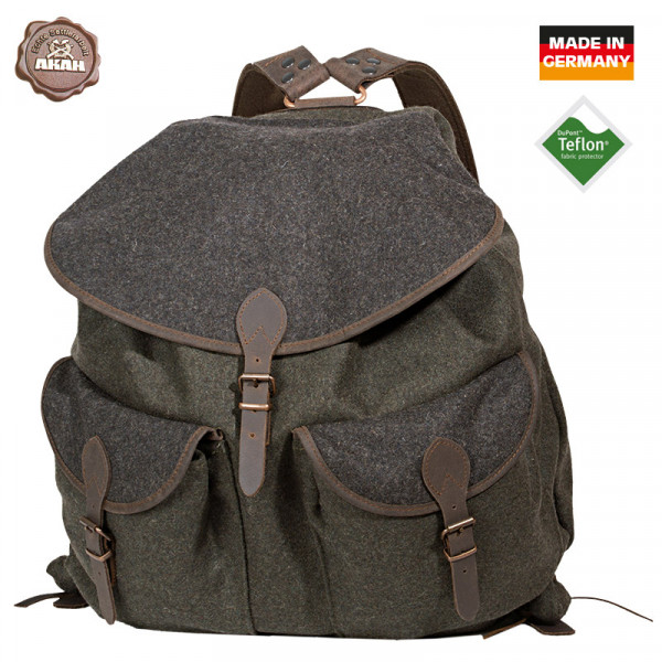 AKAH Loden-Rucksack grün/grau