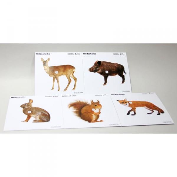 50 Tiermotiv Jagd Zielscheiben Zielscheiben 14 x 14 cm