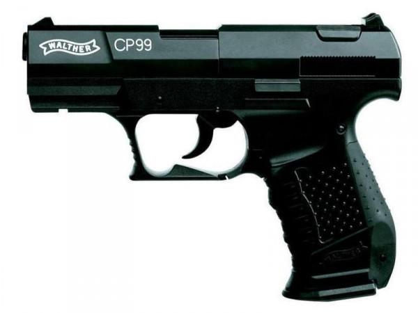 Walther CP99 Luftpistole Co2 brüniert Sparset