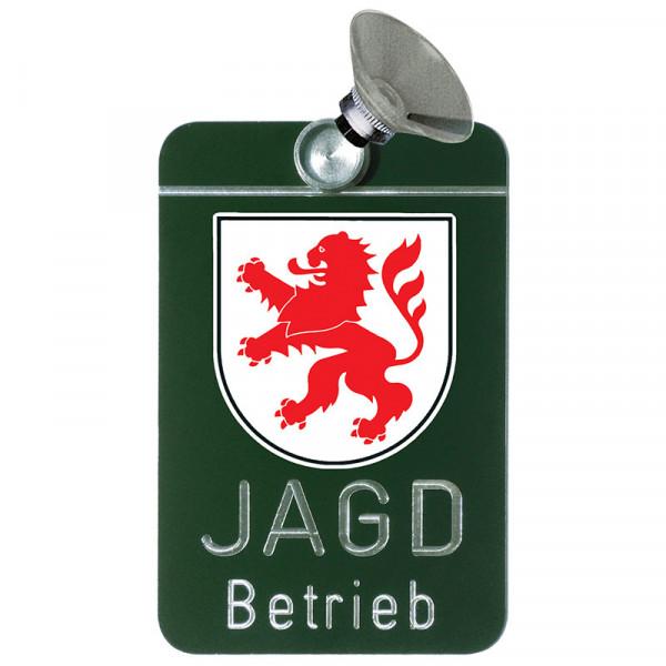 "Autoschild ""Jagdbetrieb"" Wappen: Hessen"