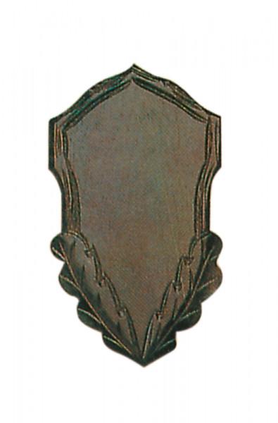 Gehörnbrett für Rehwild, 20x12 cm dunkel Ausfräsung