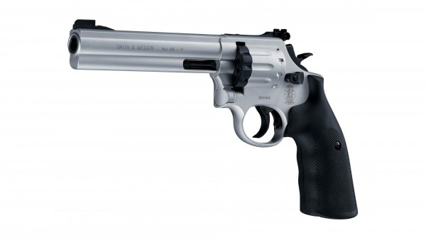 "Smith & Wesson Revolver 6"" nickel Luftpistole"